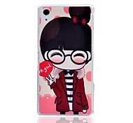 Cute Glass Girl Pattern Hard Protective Cover for SONY Xperia Z2/L50W/D6502/D6503
