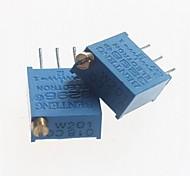 3296 Potentiometer 200ohm Adjustable Resistors - Blue (10 PCS)