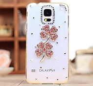 Diamond Pink Clovers Back Cover Case for SAMSUNG Galaxy S5 I9600