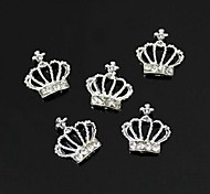 10pcs   Beauty DIY Rhinestones  Crown 3D Alloy Nail Art Decoration
