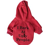 I Bark Pattern Fleeces Hoodies T-Shirt for Dogs(Blue/Red Assorted Sizes)