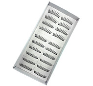 10 Eyelashes lash Eyelash Volumized Handmade Fiber