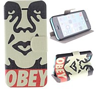 Character Image Design PU Full Body Case with Card Slot and Stand for iPhone 5C