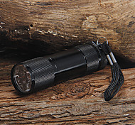 LED Flashlights / Handheld Flashlights LED 1 Mode 90 Lumens 5mm Lamp Camping/Hiking/Caving - Others , Black / Silver Aluminum alloy