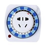 "Power Converter Socket Novelty Cyclic Mechanical Timer Plastic L3"" x W3"" x H2"""