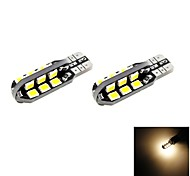 T10 2.5W 24x2835 SMD LED 120lm 3000K Warm White Light Dome Map Side Marker Bulb for Car (DC 12V , 2-Pack)