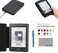 COCO FUN® Colorful PU Leather Case with Screen Protector and Stylus for All Amazon Kindle Paperwhite