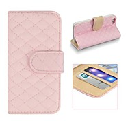 Angibabe Grid Pattern Flip Open PU Leather Full Body Case with Card Slot for iPhone 5/5S (Assorted Color)