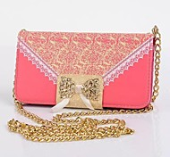 Golden Chain Bag PU Leather Case with Card Slot and Stand for Samsung Galaxy S5 I9600 (Assorted Color)