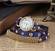 reloj de la pulsera de cadena patrón bohemio de las mujeres
