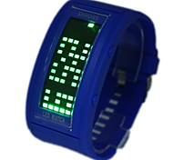 Men's Green  LED Rolling Display Silicone Band Wrist Watch(Assorted colors)