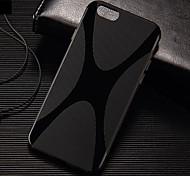 X-Form einfarbig TPU Hülle mit Schreibkopf für iphone 6 / 6S (Farbe sortiert)