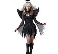 Fallen Angel Black Terylene Women's Halloween Costume
