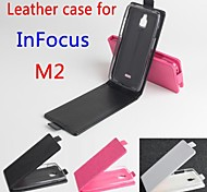 Hot Sale 100% PU Leather Flip Leather Case for InFocus M2 Up and Down Smartphone 3-color