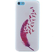 Feather Pattern PC Hard Case for iPhone 5C