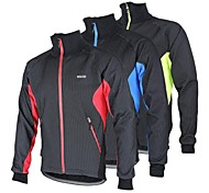 Arsuxeo Men's  Cycling Fleece Jacket Warm Winter Thermal Bicycle Windproof