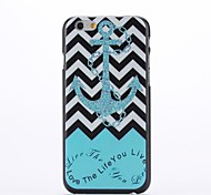 Ship Rudder and Stripe Design Pattern Plastic Hard Back Cover for iPhone 6 Plus