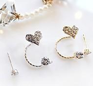 Fashion Cute Sweet Love Rhinestone Single Earrings