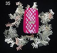 200PCS Crown Shape Metal Slice Golden Nail Art Decoration