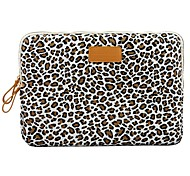 "11.6 ""12.1"" 13.3 ""Leopard canvas caso da tampa do laptop shakeproof para macbook dell thinkpad sony hp samsung"