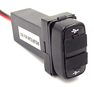 Special 2.1A 2xUSB Interface Socket Use For MITSUBISHI With Indicating Lamp