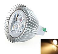 3W LED Spot Lampen MR16 3 SMD 270~300LM lm Warmes Weiß DC 12 V
