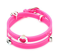 Candy Color Silicone Heart Wrap Bracelet(Random Color)