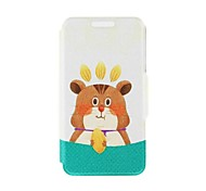 Kinston Squirrel Nut Pattern PU Leather Full Body Case with Stand for Huawei P6