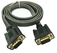 1.5m 5 pies 15 pines vga monitor SVGA m / m macho a cable de cable macho para el envío libre pc tv