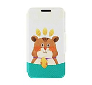 Kinston Squirrel Nut Pattern PU Leather Full Body Cover with Stand for Nokia Lumia 520