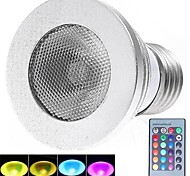 3W E26/E27 LED Spotlight 1 High Power LED 180 lm RGB Remote-Controlled AC 85-265 V