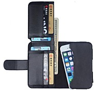 Natusun ™ Litchi Pattern Full Body Case with Wallet for iPhone 3GS/4/4S/5/5C/5S