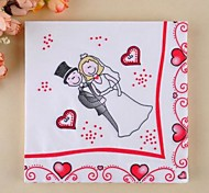 Cartoon Bride & Groom Napkins (Set of 20)