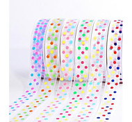 3/8 Inch Dream Wave Point Snow Yarn Ribbon Printing Ribbon- 25 Yards Per Roll (More Colors)