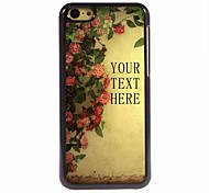 Personalized Gift Flower Design Metal Case for iPhone 5C