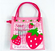 Pink Strawberry Crafts Plastic Gift Favor Bag for Baby Shower Party