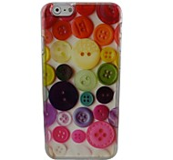 Beautiful Button Plastic Hard Back Cover for iPhone 6