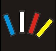 coche de la manera señales de advertencia reflectantes, alarma de coche (4 piezas)