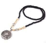 Coreia do estilo elegante pérola negra colar elegante do vintage