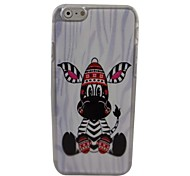 Lovely Animal Plastic Hard Back Cover for iPhone 6