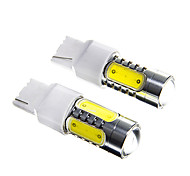 T20 7.5W White LED for Car Turn / TailLamp / Signal Lamp (DC12-24V, 2Pcs)