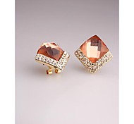 Fashion Korea Crystal Imitation Diamond Stud Earrings for Women in Jewelry