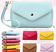 Women'S Multi Propose Envelope PU Wallet Purse for iPhone And Samsung(Assorted Color)