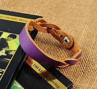 Fashion Women's Purple PU Leather Bracelets
