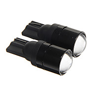 T10 1.5W COB 120LM 6000-6500k Cool White Light LED Bulbs for Car Instrument/Side Marker Lamp(DC12V 2pcs)