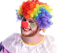 colorido payaso de fibra peluca afro fiesta de halloween