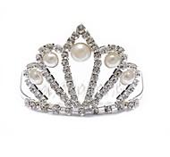 Personalized Cubic Zirconia Imitation Pearl Hair Hoop  Wedding Tiara Headpiece