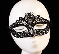 atractiva máscara de encaje dama decoración de la boda ventas calientes negro para fiesta de disfraces disfraz