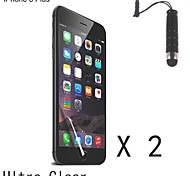 High Definition (HD) Screen Protector with Stylus Touch Pen for iPhone 6 Plus (2 pcs)
