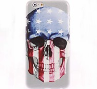 U.S flag and Skull Design Hard Case for iPhone 6 Plus